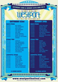 Looking forward to the Westort Festival tomorrow. G'wan Ray Davies!