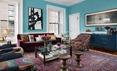 A escolha da cor define um quarto.  Imagem Via: Kati Curtis projeto