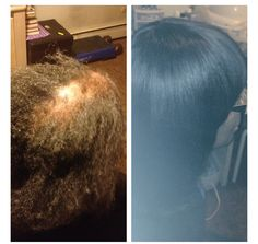 Full sew-in before n after