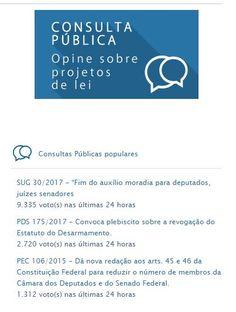 curiosidades ocultas: BRASIL CONSULTA PÚBLICA COMO FUNCIONA PDS 175/2017...