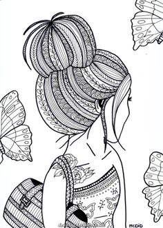 Girl Coloring Sheets free printable coloring pages for teens italien forum info Girl Coloring Sheets. Here is Girl Coloring Sheets for you. Girl Coloring Sheets free printable coloring pages for teens italien forum info. Doodle Art Drawing, Zentangle Drawings, Mandala Drawing, Art Drawings Sketches, Drawing Ideas, Cute Doodle Art, Doodling Art, Design Art Drawing, Doodles Zentangles