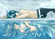 Gruvia is not one of my big ships but I have to say Gruvia fan art is the most beautiful out of all the ship fan arts.