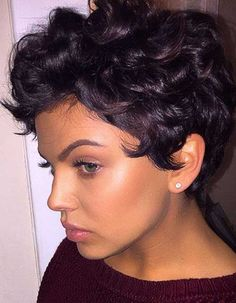 Magnificent 20 Lovely Wavy Curly Pixie Styles Short Hair Pixie Styles My Hairstyle Inspiration Daily Dogsangcom