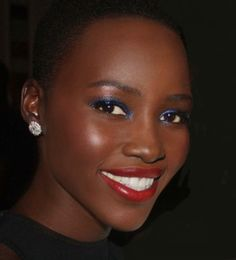 Lupita's make-up is flawless and that smile is dazzling. www.missKrizia.com