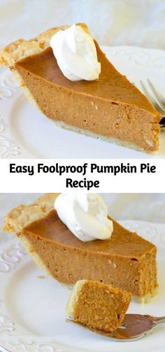 Easy Foolproof Pumpkin Pie Recipe The best and easiest Pumpkin Pie recipe I've tried! It's creamy with the perfect amount of spice! This Pumpkin Pie will soon be a family favorite! Easy Pumpkin Pie, Pumpkin Pie Recipes, Pumpkin Cookies, Pumpkin Dessert, Vegan Pumpkin, Pumpkin Pie Filling Recipe Easy, Pumpkin Pie Recipe With Condensed Milk, Creamy Pumpkin Pie Recipe, Perfect Pumpkin Pie