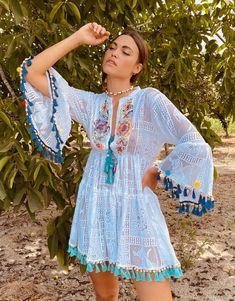 Ibiza Fashion, Cover Up, Boho, Dresses, Style, Vestidos, Swag, Bohemian, Dress