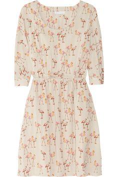 PAUL & JOE SISTER  Saudade flamingo-print voile dress