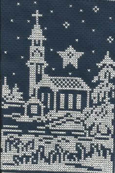 Star with a church cross stitch.