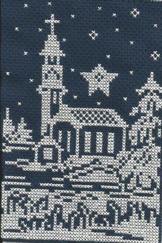 Star with a church cross stitch.