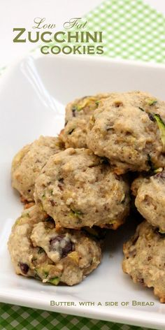 Low Fat Zucchini Cookies - great cookies used a ripe banana, 1/2 brown sugar instead of 1 cup white and whole wheat flour..nutmeg instead of cinimon and bit of vanilla..superb..made 24 large soft cookies