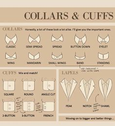 Collars and cuffs style
