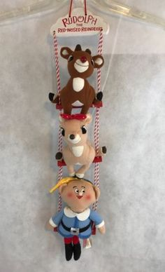 Rudolph-The-Red-Nosed-Reindeer-Dan-Dee-Christmas-Wallhanging-Collectible-Gift