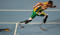 "Oscar Pistorius - ""Being disabled doesn't have to be a disadvantage."""