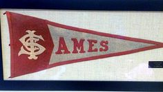Curt Liljedahl '83 sent us this photo of a pennant his wife Cindy Twait Liljedahl '83 recently had framed for him. Curt is part of the third of four generations in his family to have attended #IowaState, and the 1913 vintage pennant has been handed down for generations, starting with Curt's grandparents, who graduated from Iowa State in 1914. #CyclonesEverywhere