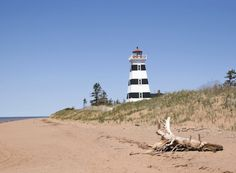 West Point, Prince Edward Island Prince Edward Island, Anne Of Green Gables, Vacation Destinations, Places To Travel, Canada, North America, Beach, Lighthouses, Travel