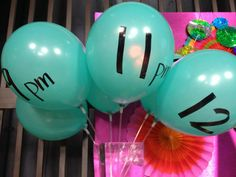 Mark each hour of your evening's festivities with a latex balloon labeled with the time and stuffed with a note for a fun activity for that hour. Ideas include games, dance party, treats, and more. The kids will have so much fun popping the balloons to see what surprise awaits them.