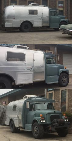 Airstream and International Harvester truck marriage.