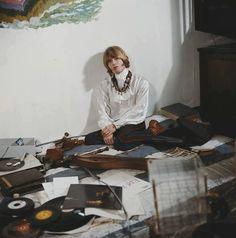 Brian Jones chillin' with some vinyl.