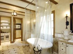 How to Clean a Bathtub: How To Clean A Bathtub With White Shower Curtain And Marble Vanity Design