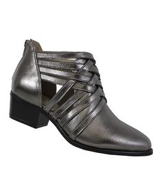 Pewter Crisscross Paladino Ankle Boot | zulily