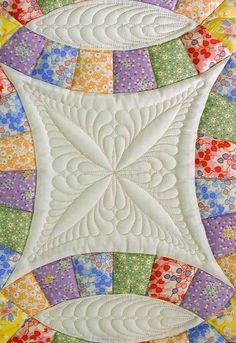 close up double wedding ring quilt quilting design by kim brunner weddingring - Wedding Ring Quilts For Sale