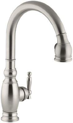 KOHLER K-690-VS Vinnata Kitchen Sink Faucet, Vibrant Stainless Kohler http://www.amazon.com/dp/B000MWZJIE/ref=cm_sw_r_pi_dp_C9Pkvb1P6PJ1D