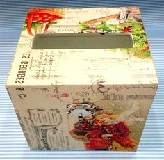 Beautiful Tissue Box with elegant vintage desain ready to decorate your room. Size: 12x13 cm