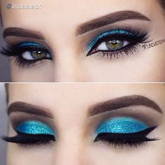 """""""Summery turquoise ☀️ by the lovely @kinda stephe who used her BH Liquid Eyeliner ✔️in her gorgeous look, follow her  @lindasteph  to see more! ✨…"""""""