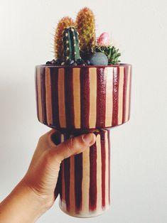 Quirky ceramics for your planties // cute! http://obus.com.au/
