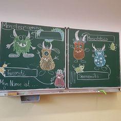 Heute mit den Ersties gemacht: Monsternamen gewürfelt. Erst Silbe für Silbe gewürfelt. Dann Silbe für Silbe ergänzt. Je mehr Silben zusammenkamen desto lustiger wurden die Namen. Die 4 lustigsten Namen haben es an die Tafel geschafft. Anschließend wurde der Sieger durch Abstimmung gewählt. Es war sehr lustig und selbst die weniger guten Leser haben sich viel Mühe gegeben ihren gewürfelten Mosternamen lesen zu können! (Inspiration bei den Monstern hab ich bei ideenreiseblog gefunden.)…