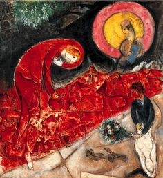 Marc Chagall - The Red Roofs, 1953 - Centre Pompidou.