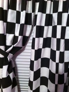 Checkered Flag Curtain Valances And Color Blue On Pinterest