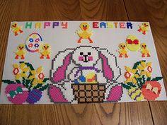 Happy Easter  hama beads by beadmerrily, via Flickr
