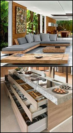 Pin by achu rajesh on Home & deco (With images) Interior Design Living Room, Living Room Designs, Living Room Decor, Interior Decorating, Modern House Design, Furniture Design, Diy Furniture, Wooden Living Room Furniture, Steel Furniture