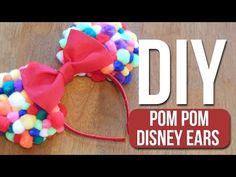 caf7ea0e1 (11) DIY |Pom Pom Disney Ears - YouTube Diy Disney Ears, Disney