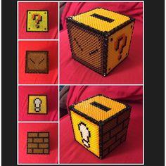Mario piggy bank perler beads by misscrystal15