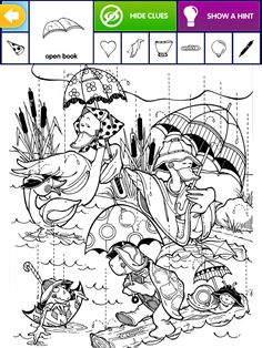 Colouring Pages, Coloring Books, Hidden Picture Puzzles, Hidden Pictures, Hidden Objects, Open Book, Teaching Math, Pre School, Adult Coloring