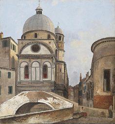 View Of The Churches Maria Dei Miracole And Santa Maria Nova In Venice by Ippolito Caffi