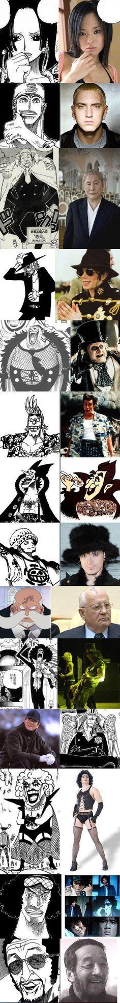 Alguns personagens de One Piece que foram inspirados em pessoas reais!