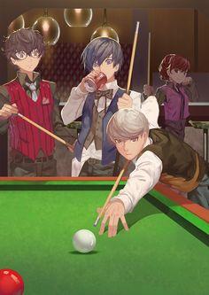 Artist: Nanaya (Daaijianglin) | Shin Megami Tensei: Persona 3 | Shin Megami Tensei: Persona 4 | Shin Megami Tensei: Persona 5 | Female Protagonist | Kurusu Akira | Narukami Yu | Yuuki Makoto