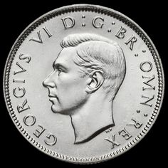 1943 George VI Silver Two Shilling Coin / Florin, A/UNC