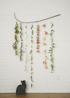 Attached to a branch or two   DIY garland