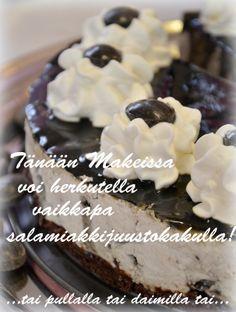 Salmiakkia! Pie, Desserts, Food, Torte, Tailgate Desserts, Cake, Deserts, Fruit Cakes, Essen
