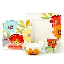 Laurie Gates Liza Dinnerware. fun! Ceramics Ideas, Gates, Dinnerware, Dishes, Fun, House, Dish Sets, Porcelain, Setting Table