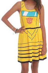 Transformers Bumblebee Dress