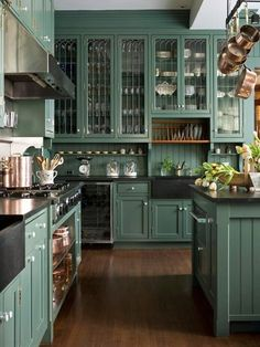 kitchen, painted cabinets - Click image to find more Home Decor Pinterest pins