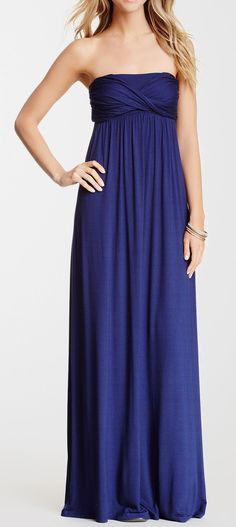 Draped Maxi Dress in my favorite color! Dressy Dresses, Cute Dresses, Beautiful Dresses, Drape Maxi Dress, Dress Skirt, Pretty Outfits, Cute Outfits, Fashion Corner, Complete Outfits