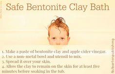 Safe bentonite clay bath to detox