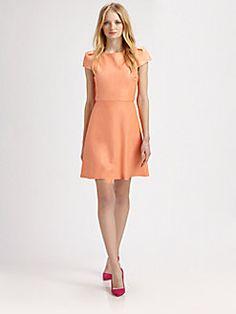 Alice + Olivia - Finn Leather Boatneck Dress