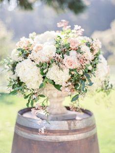 Garden wedding flowers: http://www.stylemepretty.com/2015/05/27/romantic-meadowood-napa-wedding/ | Photography: Coco Tran - http://www.cocotran.com/